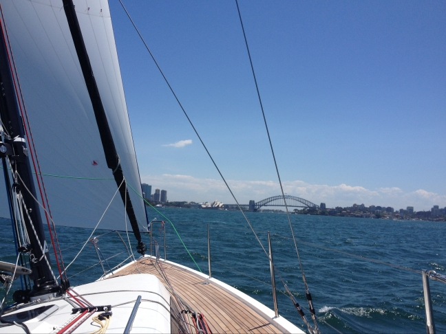 J/112e Arunga sails into Sydney Harbour